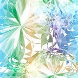 Textiel naadloos patroon van driehoeken op donkere achtergrond stock illustratie