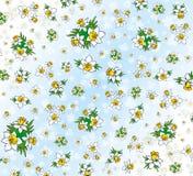 Textiel patroon van Gele narcissen Stock Foto