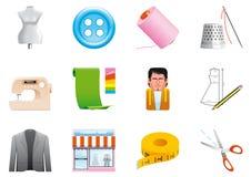 Textiel pictogrammen vector illustratie