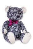 Textiel teddy op witte achtergrond Stock Fotografie