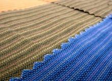 Textiel textuursteekproef stock afbeelding