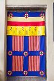 Textiel van Bhutan Stock Foto