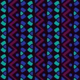 Textiel verticaal eenvoudig geometrisch naadloos vectorpatroon royalty-vrije illustratie