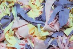 Textielafval Royalty-vrije Stock Afbeeldingen