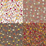 Textielpatronen van bloemen Stock Illustratie