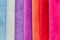 Textielsteekproevenclose-up Stock Afbeeldingen