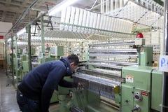 Textielstof Ä°n Turkije Stock Foto