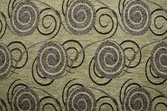 Textielstoffentextuur Anemon 12 de bruine kleur van Ecru Royalty-vrije Stock Foto's