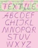textil прописных букв Стоковое Изображение RF