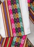 Textil dei peruvian del primo piano Fotografie Stock