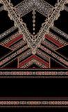 Textil för mode för barock röd designguldstil elegant vektor illustrationer