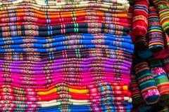 Textil i Peru arkivbild