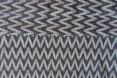 Textil med den geometriska modellen vikt i tre Royaltyfria Foton