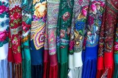 Textil med etniska modeller Arkivbild