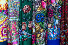 Textil med etniska modeller Royaltyfria Foton