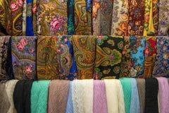 Textil med etniska modeller Fotografering för Bildbyråer