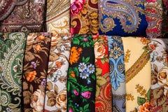 Textil med etniska modeller Arkivbilder