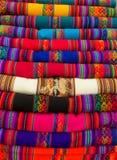 Textil in Peru lizenzfreies stockfoto