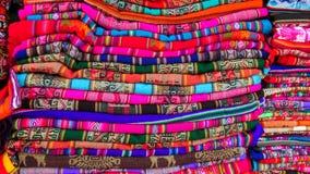 Textil in Peruvian market Stock Photo