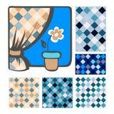 Textil sömlös pattern-12 royaltyfri illustrationer
