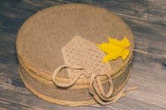 Textil täckt ask arkivbilder