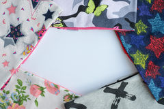 Textil- und Kopienraum für Anmerkung Stockfoto
