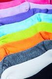 Textilbunter Sockenhintergrund Lizenzfreies Stockfoto