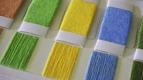 Textilcolourcard arkivfoto