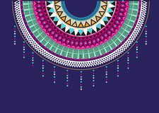 Textildesign för krageskjortor, Aztec geometriskt tryck stock illustrationer