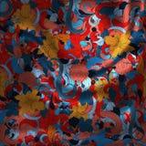 Textile. Illustration of waving decorative colrfull textile product Stock Photo