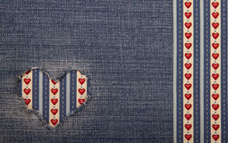 Textile applique for Valentine's Day. Royalty Free Stock Images