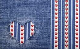Textile applique for Valentine's Day. Stock Photo