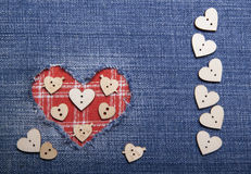 Textile applique for Valentine's Day. Stock Images