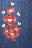 Textile applique for Valentine's Day. Stock Image