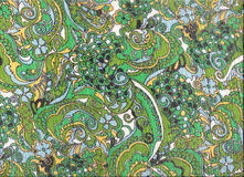 Textile asiatique vert de type. Images stock