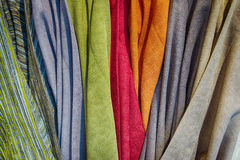 Textile backdrops of various colors with soft tints. Textile backdrops of various colors with soft tonality Royalty Free Stock Image