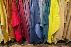 Textile backdrops of various colors and tints Royalty Free Stock Image
