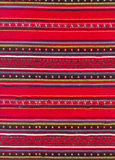 Textile background. Red textile background - folk style royalty free stock images