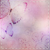 Textile  background with butterfly Royalty Free Stock Photos