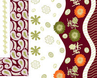 Textile background design with floral Royalty Free Stock Image