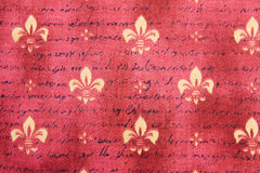Textile background with Fleur de Lis Royalty Free Stock Photography