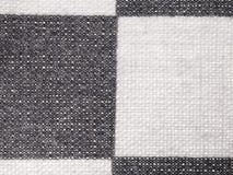 Textile background - plaid cotton fabric Stock Photography