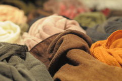 samples of wool fabrics Stock Images