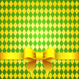 Textile background with satin bow Royalty Free Stock Image