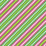 Textile background, seamless pattern included. Striped and checked red and green background with fabric texture, suitable for Christmas and other holiday designs vector illustration
