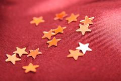 textile  background with stars Royalty Free Stock Images