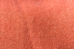 Textile background terracotta color with a wide weave thread Royalty Free Stock Images