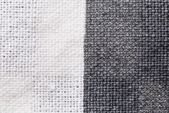 Textile background - white and gray cotton fabric Stock Images