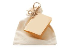 Textile bag Royalty Free Stock Photography