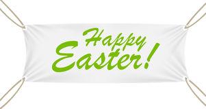 Textile Banner with Happy Easter Text. Vector Royalty Free Stock Photo